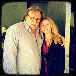 "with the one and only Gerard Depardieu on the set of ""Welcome to New York"""